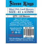Sleeve Kings Mini USA Card Sleeves (41x63mm) – 110 Pack, 60 Microns