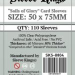 """Bored Game Company is the best place to buy Sleeve Kings """"Sails of Glory* Card Sleeves (50x75mm) - 110 Pack, 60 Microns in India."""
