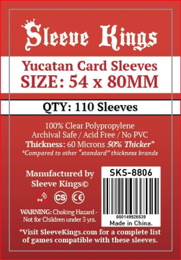 Wondering where to buy Sleeve Kings Yucatan Card Sleeves (54x80mm) - 110 Pack, 60 Microns in India? Find it only on Bored Game Company.