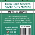 Sleeve Kings Euro Card Sleeves (59x92mm) – 110 Pack, 60 Microns
