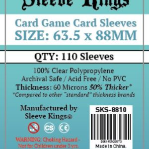 Bored Game Company is the best place to buy Sleeve Kings Card Game Card Sleeves (63.5x88mm) - 110 Pack, 60 Microns in India.
