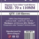 "Sleeve Kings Magnum ""Lost Cities"" Card Sleeves (70x110mm) – 110 Pack, 60 Microns"