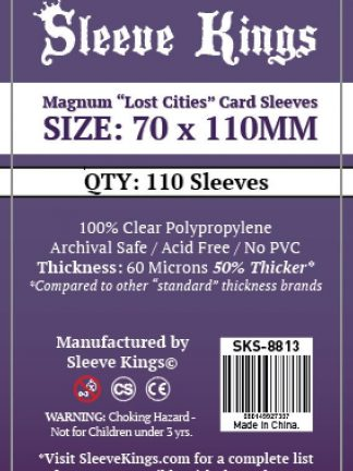 "Wondering where to buy Sleeve Kings Magnum ""Lost Cities"" Card Sleeves (70x110mm) - 110 Pack, 60 Microns in India? Find it only on Bored Game Company."