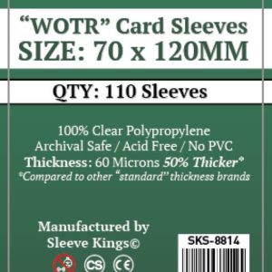 "Buy Sleeve Kings ""WOTR-Tarot"" Card Sleeves (70x120mm) - 110 Pack, 60 Microns in India only at Bored Game Company."