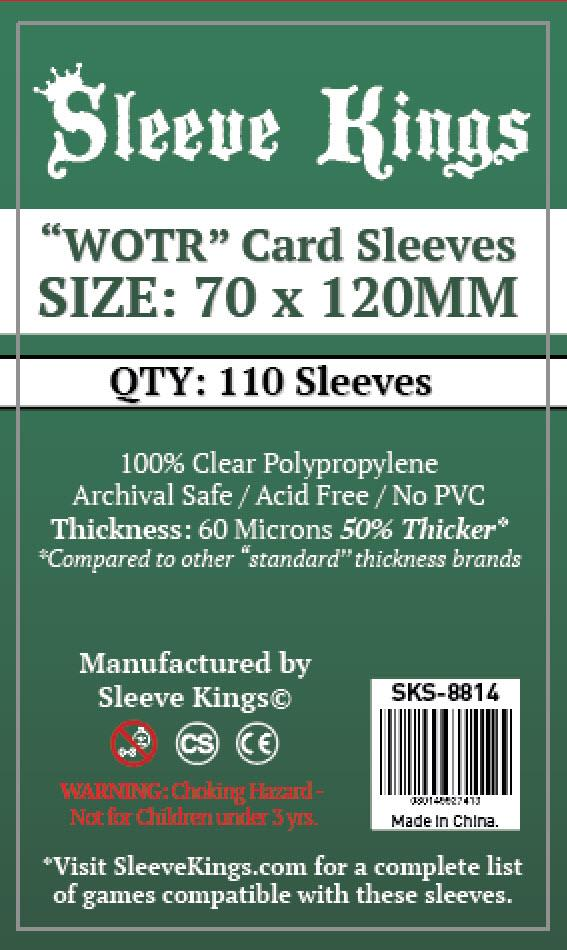"""Buy Sleeve Kings """"WOTR-Tarot"""" Card Sleeves (70x120mm) - 110 Pack, 60 Microns in India only at Bored Game Company."""