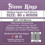 Wondering where to buy Sleeve Kings Medium Square Card Sleeves (80x80mm) - 110 Pack, 60 Microns in India? Find it only on Bored Game Company.