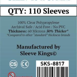 "Buy Sleeve Kings ""Space Base Compatible"" Sleeves (40x89mm) - 110 Pack, 60 Microns in India only at Bored Game Company."