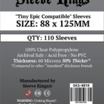 "Sleeve Kings ""Tiny Epic Compatible"" Sleeves (88x125mm) – 110 Pack, 60 Microns"