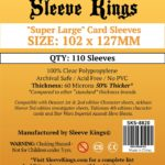 "Sleeve Kings ""Super Large"" Sleeves (102x127mm) – 110 Pack, 60 Microns"