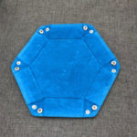Hexagon-Foldable-PU-Leather-Dice-Trays-Velvet-Cloth-Desktop-Key-Wallet-Coin-Storage-Box-Tray-181