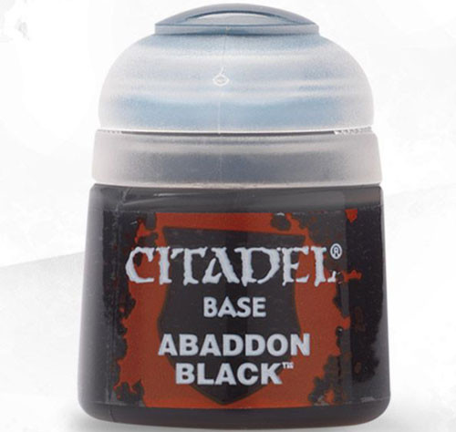 Buy Citaldel Base Paints: Abaddon Black only at Bored Game Company