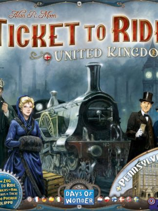 Buy Ticket to Ride Map Collection: Volume 5 – United Kingdom & Pennsylvania only at Bored Game Company.