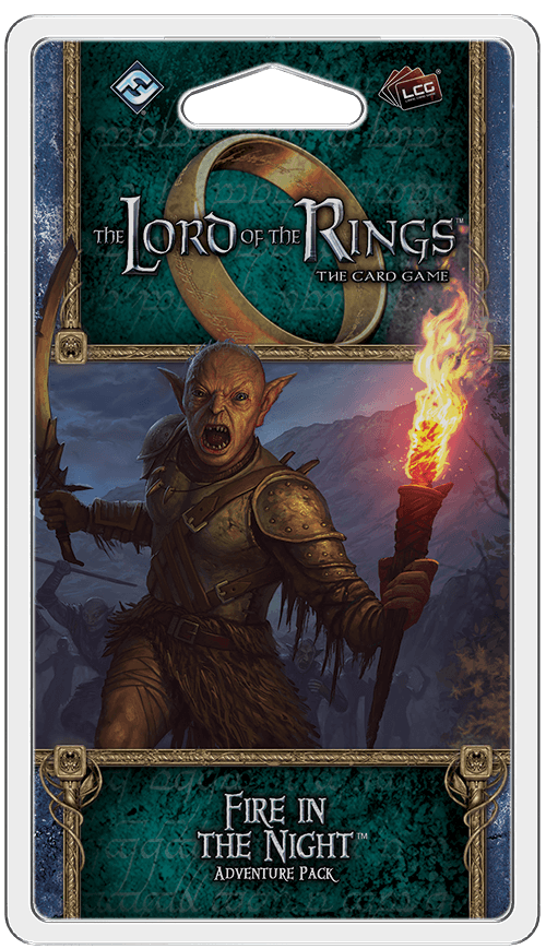 Buy The Lord of the Rings: The Card Game – Fire in the Night only at Bored Game Company.