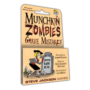 Buy Munchkin Zombies: Grave Mistakes only at Bored Game Company.
