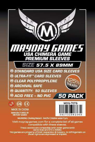 Buy Mayday Premium Sleeves: Standard USA Chimera Card Sleeves (57.5 x 89mm) - Pack of 50 only at Bored Game Company.