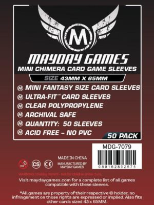 Buy Mayday Premium Sleeves: Mini Chimera Card Sleeves (43 x 65mm) - Pack of 50 only at Bored Game Company.