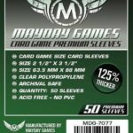 Buy Mayday Premium Sleeves: Standard Card Sleeves (63.5 x 88mm) - Pack of 50 only at Bored Game Company.