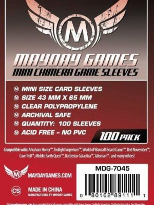 Buy Mayday Standard Sleeves: Mini Chimera Card Sleeves (43 x 65mm) - Pack of 100 only at Bored Game Company.