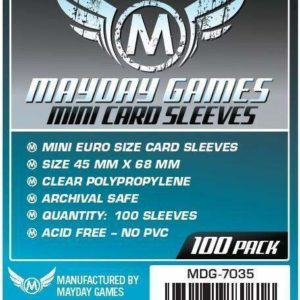 Buy Mayday Standard Sleeves: Mini Euro Card Sleeves (45 x 68mm) - Pack of 100 only at Bored Game Company.