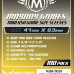 Buy Mayday Standard Sleeves: Mini USA Card Sleeves (41 x 63mm) - Pack of 100 only at Bored Game Company.