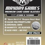 """Buy Mayday Premium Sleeves: """"Space Alert"""" & """"Dungeon Petz"""" Card Sleeves (61 x 103mm) - Pack of 50 only at Bored Game Company."""