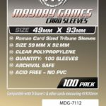 Buy Mayday Standard Sleeves: Tribune Card Sleeves (49 x 93mm) - Pack of 100 only at Bored Game Company.