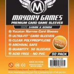 Buy Mayday Premium Sleeves: Yucatan Card Sleeves - Narrow Sleeves (54 x 80mm) - Pack of 50 only at Bored Game Company.