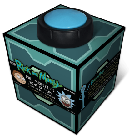 Buy Rick and Morty: Mr. Meeseeks' Box o' Fun Dice and Dares Game only at Bored Game Company.