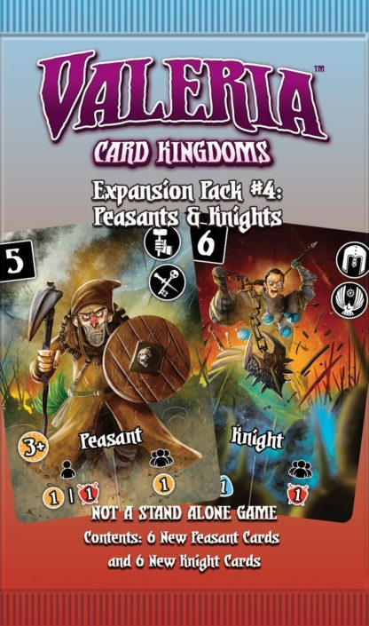 Buy Valeria: Card Kingdoms – Expansion Pack #04: Peasants & Knights only at Bored Game Company.