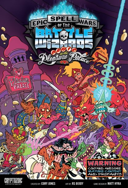 Buy Epic Spell Wars of the Battle Wizards: Panic at the Pleasure Palace only at Bored Game Company.