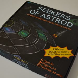 Buy Seekers of Astrod only at Bored Game Company.