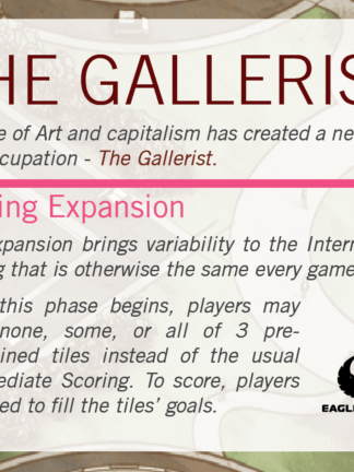 Buy The Gallerist: Scoring Expansion only at Bored Game Company.