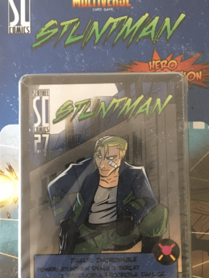 Buy Sentinels of the Multiverse: Stuntman Hero Character only at Bored Game Company.