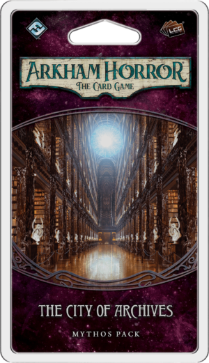 Buy Arkham Horror: The Card Game – The City of Archives: Mythos Pack only at Bored Game Company.