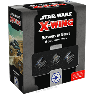 Buy Star Wars: X-Wing (Second Edition) – Servants of Strife Squadron Pack only at Bored Game Company.