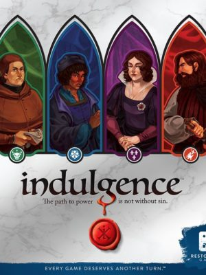 Buy Indulgence only at Bored Game Company.