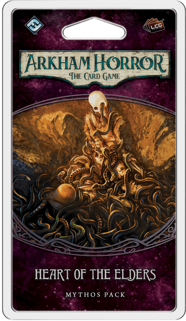 Buy Arkham Horror: The Card Game – Heart of the Elders: Mythos Pack only at Bored Game Company.