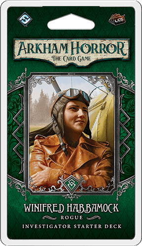 Buy Arkham Horror: The Card Game – Winifred Habbamock: Investigator Starter Deck only at Bored Game Company.