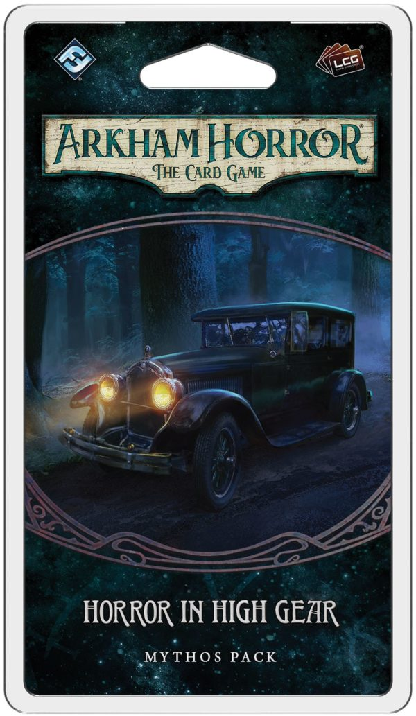 Buy Arkham Horror: The Card Game – Horror in High Gear: Mythos Pack only at Bored Game Company.