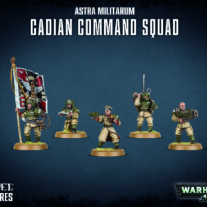 Buy Astra Militarum: Cadian Command Squad only at Bored Game Company.
