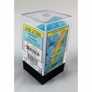 Buy Chessex - Luminary - Poly Set (x7) - Sky/Silver only at Bored Game Company.
