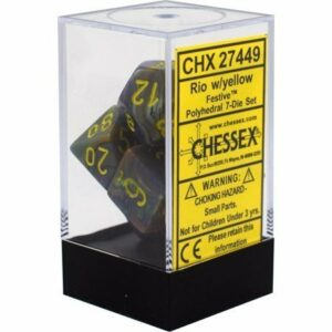 Buy Chessex - Festive - Poly Set (x7) - Rio/Yellow only at Bored Game Company.