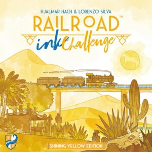 Buy Railroad Ink Challenge: Shining Yellow Edition only at Bored Game Company.